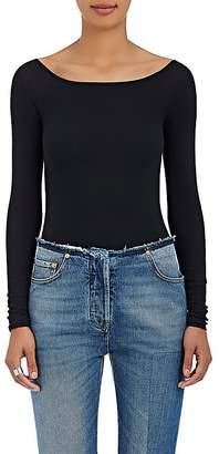 ATM Anthony Thomas Melillo Women's Rib-Knit Long-Sleeve Bodysuit