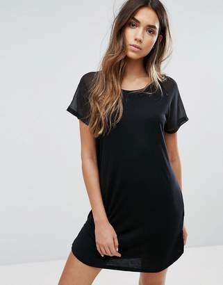 JDY Sheer Panel Sleeve Dress $18.50 thestylecure.com
