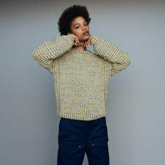 Maje Oversize sweater in novelty knit