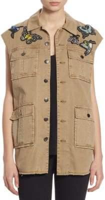 Canyon Butterfly Patch Cotton Vest