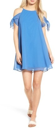 Women's Soprano Tie Sleeve Cold Shoulder Dress $45 thestylecure.com
