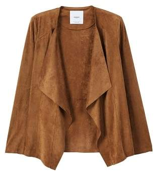 MANGO Waterfall faux suede jacket