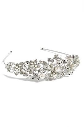 Nina 'Vina' Crystal Floral Headband $98 thestylecure.com