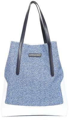 Jimmy Choo PIMLICO N/S Aqua Mix Sneaker Knit Fabric and Vacchetta Tote
