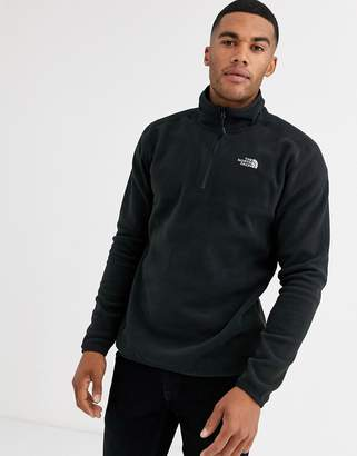 The North Face 100 Glacier 1/4 Zip Fleece in Black
