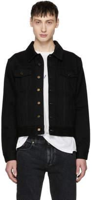 Saint Laurent Black Worn Denim Jacket