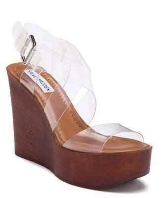 Steve Madden Poetic Clear Wedge Sandal