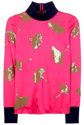 3.1 Phillip Lim Embellished satin sweater