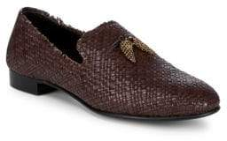 Giuseppe Zanotti Basketweave Leather Loafers