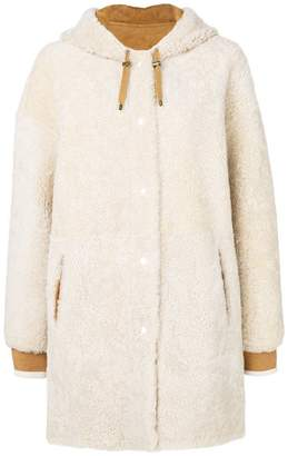 Yves Salomon hooded shearling coat