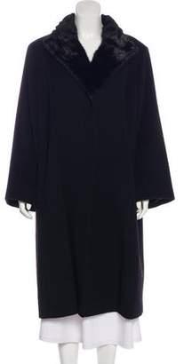 Cinzia Rocca Wool Mink-Trimmed Coat