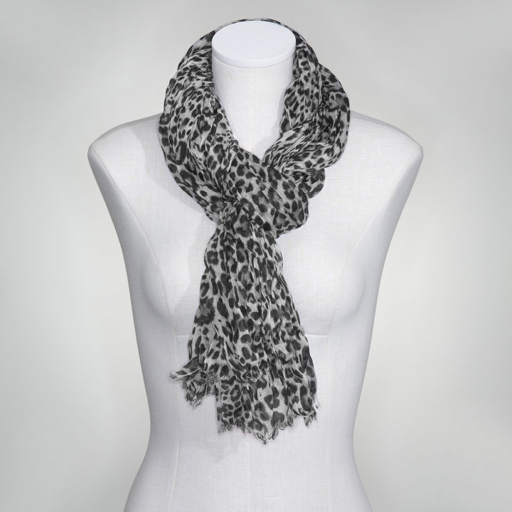Jones New York Cheetah Print Crinkle Scarf