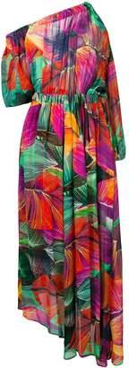 Pinko tropical print asymmetric dress