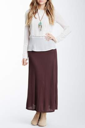 24\u002F7 Comfort Solid Maxi Skirt (Regular & Plus)