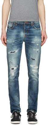 Nudie Jeans Blue Grim Tim Jeans $300 thestylecure.com