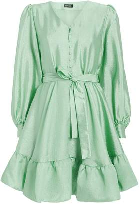 Stine Goya Farrow Crepe Blouson Sleeve Dress