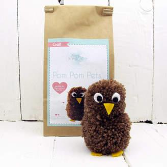Hurley Sarah Pom Pom Pets Craft Kit Brown Owl