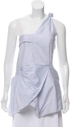 J.W.Anderson Striped One-Shoulder Top