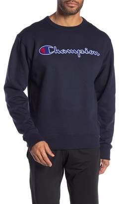 Champion Logo Patch Crew Neck Pullover