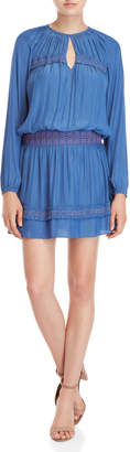 Ramy Brook Pleated Keyhole Peasant Dress