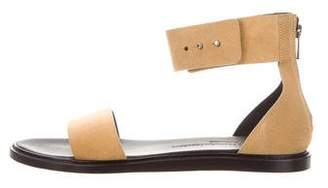 Common Projects Woman by Suede Ankle Strap Sandals