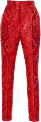 Dolce & Gabbana Jacquard High-Rise Trouser