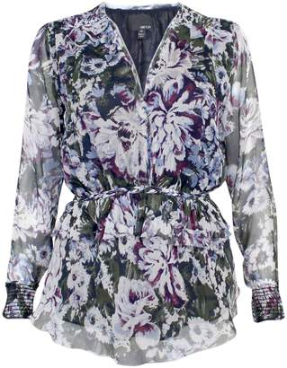 Greylin Women's Chennai Silk Floral Printed Top