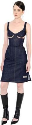 J.W.Anderson Cutout Stretch Denim Bustier Dress