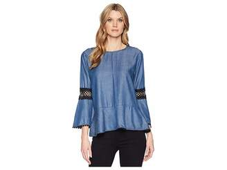 Bobeau B Collection by Aine Tencel Blouse