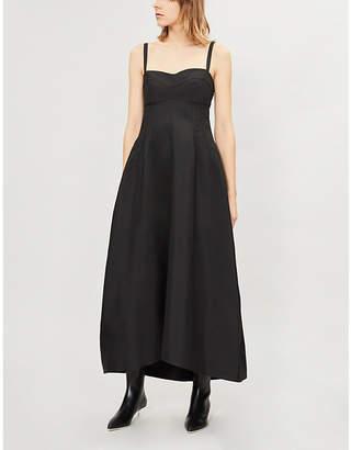 Jil Sander Ginestra corset-style woven midi dress