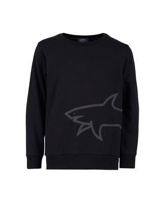 Paul And Shark Junior Shark Logo Sweat Colour: BLACK, Size: Age 6