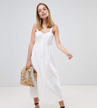 Asos DESIGN Petite Linen Button Through Maxi Dress
