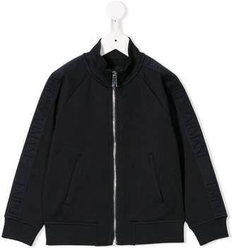 Emporio Armani Kids zipped bomber jacket