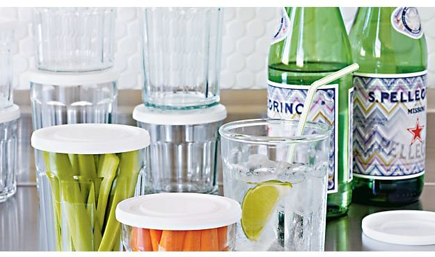 Crate & Barrel Working Glasses and Lid
