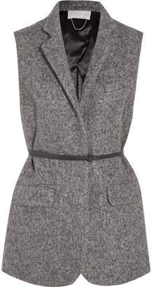 Vanessa Bruno Hirone Herringbone Wool, Alpaca And Silk-blend Gilet - Gray