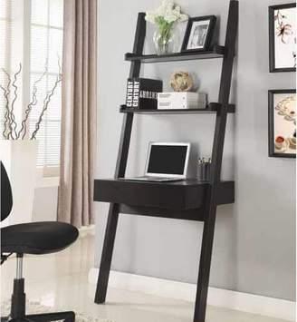 Ebern Designs Melodie Ladder Desk with Hutch