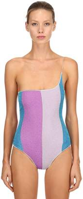 Oseree LUREX ONE SHOULDER ONE PIECE SWIMSUIT