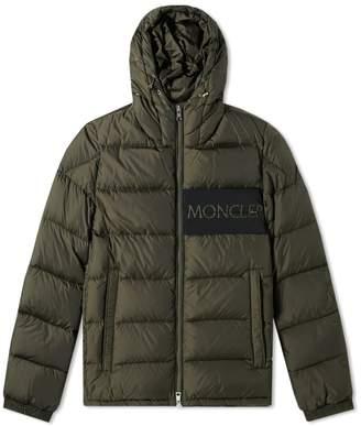 Moncler Aiton Logo Hooded Down Jacket