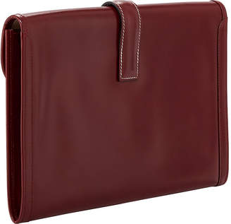 Hermes Jige Smooth Box Clutch Bag