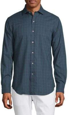 Polo Ralph Lauren Long-Sleeve Plaid Cotton Button-Down Shirt