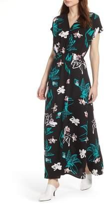 Halogen V-Neck Maxi Dress (Regular & Petite)