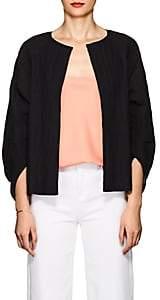 Zero Maria Cornejo Women's Beetle Shrug Cotton-Blend Jacket - Black
