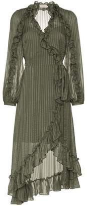 Zimmermann Cascade Wrap Midi Dress