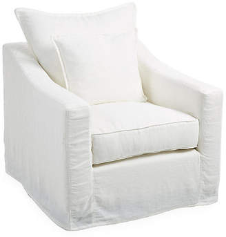 One Kings Lane Darcy Slipcover Chair - Oyster Linen