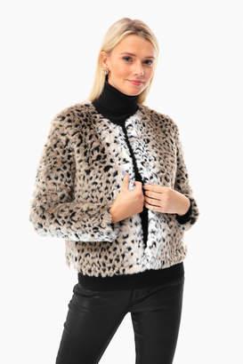 BB Dakota Leopard Faux Fur Jacket