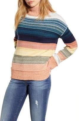 Caslon Turtleneck Stripe Sweater
