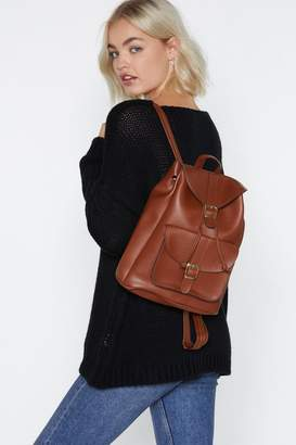 Nasty Gal WANT Wolf Pack Faux Leather Backpack