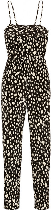 Sea Printed silk jumpsuit