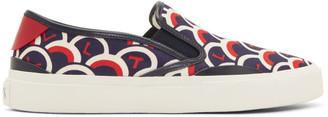 Valentino Blue Garavani VLTN Slip-On Sneakers