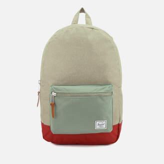 Herschel Men's Settlement Backpack - Light Khaki Crosshatch/Shadow/Brick Red
